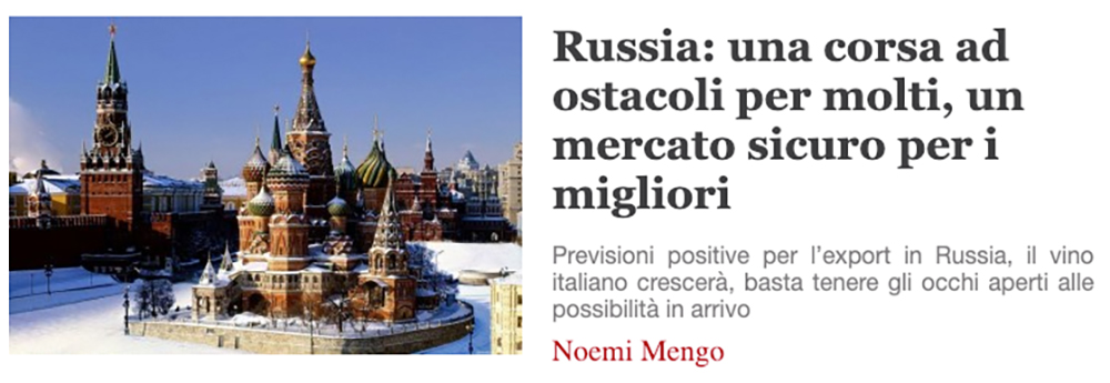 Italian article covers Russian market situation